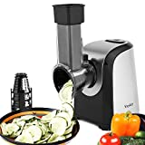 Electric Spiralizer Salad Maker Food Grater Slicer/Electric Graters/Chopper with 4 Cone Blades, 200W