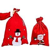Tinksky Weihnachtsmann Geschenk Sack mit Cord Drawstring Süßigkeiten Taschen Treat Goodie Tasche Weihnachtsstrumpf Stuffers Handtasche Weihnachten Kostüme (Random Style)