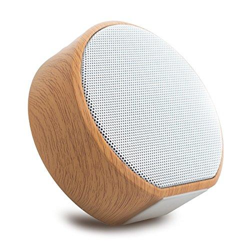 TRHTFGHTRF Bluetooth-Lautsprecher, tragbar, Retro-Telefon aus Holz, kabellos, Außengewinde, Mini-Stereo-Kamin, Stahl, Computer Card Subwoofer Auto Walkman -