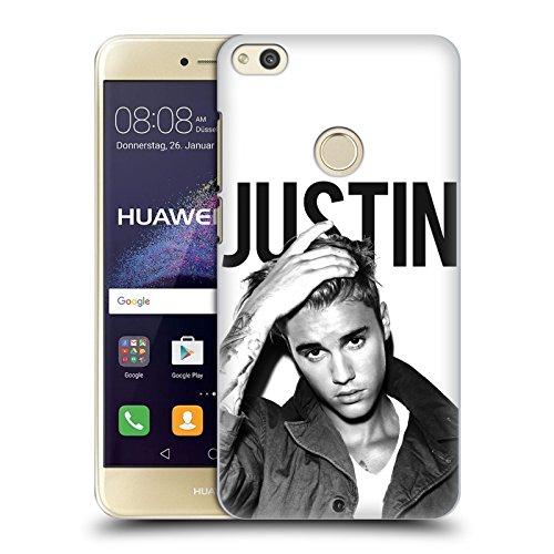 Ufficiale Justin Bieber Calendario Bianco E Nero Purpose Cover Retro Rigida per Huawei P8 Lite (2017)