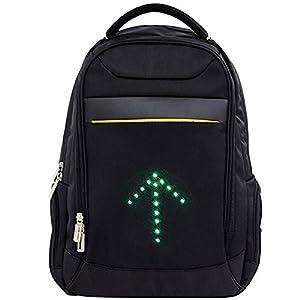 Ihuniu, Inc., Zaino catarifrangente con indicatore di direzione a LED, impermeabile, ideale per viaggi, laptop, scuola… 1 spesavip