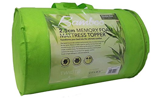 Bamboo Memory Foam Mattress Topper with Cover 2 inch (Single) 2