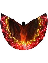SHINYOU LED Alas ISIS Ropa de Rendimiento Luminoso Disfraces de Danza del Vientre con Palos Carnaval