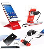 Riona Mobile holder A2 Red + Hanger Stand + Cable Organizer + Scratch Guard Pads A2R-C best price on Amazon @ Rs. 325