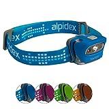 Stirnlampe STARLIGHT Kopflampe Helmlampe in verschiedenen Farben von Alpidex, Farbe:skyblue