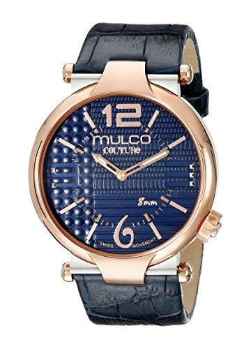 MULCO Men's MW5-3183-044 Couture Slim Analog Display Swiss Quartz Blue Watch by MULCO
