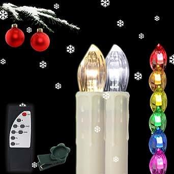 Henda 50x led kerzen bunt lichterkette kabellose - Led lichterkette bunt mit fernbedienung ...