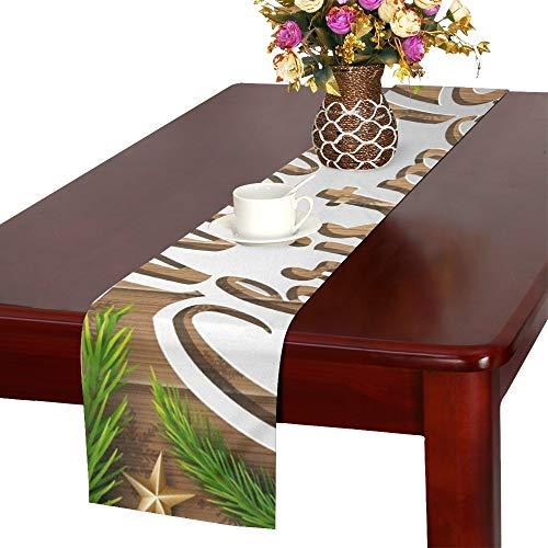 JOCHUAN Weihnachten hölzerne Fir Table Table Runner, Küche Esstisch Runner 16 X 72 Zoll für Dinner Parties, Events, Dekor