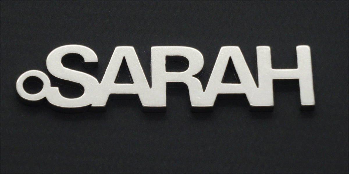 """""""Sarah"""" Name Schlüsselanhänger key-chain porte-clés Schlüsselanhänger Ideal Geschenk"""