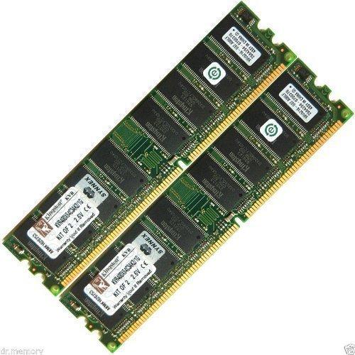 Speicherplatine 1 GB (2 x 512 MB) DDR-400 PC3200 Non-ECC für Desktop-PC RAM 184-Pin -