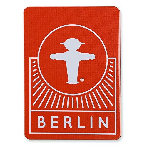 """Ampelmann Magnet """"Anhalter"""" rot mit Steher Berlin ca. 77 x 55 x 3 mm, Kühlschrankmagnet, Türmagnet"""