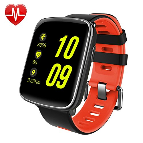 Smart-Watch-eigensinnige-sw018-Bluetooth-SmartWatch-IP68-Wasserdicht-Sport-Fitness-Uhr-mit-Herzfrequenz-Monitor-Schrittzhler-Schlaf-Monitor-SMS-App-BenachrichtigungDisplay-Wecker-Stoppuhr-fr-iPhone-IO