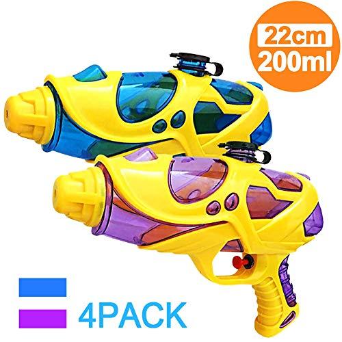 for Kinder, Super Squirt Pistole Hohe Kapazität Wasser Soaker für Kinder Jungen Mädchen Indoor Outdoor Schwimmbad Wasser Kampf Spielzeug Party Favors(4pcs) ()