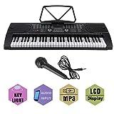 OUTAD Clavier Electronique Piano Numérique Portable, Clavier Standard avec 61 Touches Sensibles au...