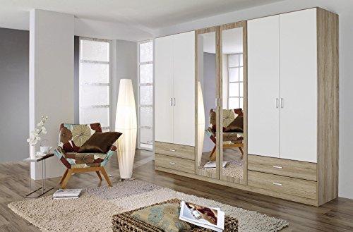Avanti trendstore - armadio in colore quercia san remo / bianco