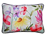 Air Castle- Home Decore- Polyester & Polyester Blend- Floral hand painted Cushion Cover best price on Amazon @ Rs. 844