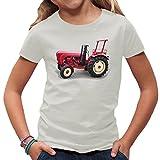 Traktoren Kinder T-Shirt - Traktor Porsche Super Diesel - Oldtimer by Im-Shirt - Hellgrau Kinder 7-8 Jahre