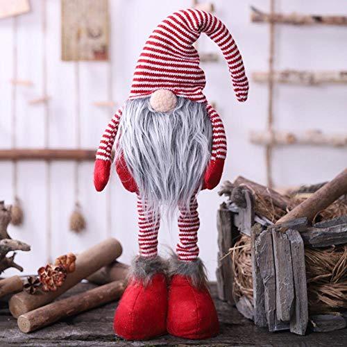 C-GRMM Giocattoli di Elfo Fatti a Mano a Forma di Bambola di Gnomo di Babbo Natale con Le Gambe Lunghe e Decorazioni Natalizie a casa Decorazioni per Feste, Regalo per Bambini,
