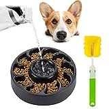 SlowTon Anti-Schling NAPF mit Reinigungsbürste, Reisenäpfe Hundenapf Katzennapf, Anti Schling für die langsame Fütterung, Interaktive NAPF, Umweltfreundlicher, langlebiger, ungiftiger Hundenapf