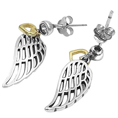 FANSING Schmuck 925 Sterling Silber Engel Flügel Ohrringe für Damen Mädchen mit (Großhandel Flügel)