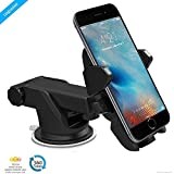Car Cradles Best Deals - ZAAP® (USA) QUICKTOUCH ONE , Premium Car Mount Mobile Holder Universally Compatible for Car WINDSHIELD, Car DASHBOARD & Working Desks. (3rd Generation upgrade, Black) Made in Korea