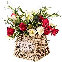 GWM Flores Artificiales, Falsas Flores Reales de Tacto de Seda de plástico, para la