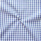 STOFFKONTOR Baumwollstoff Hemden Qualität Vichy Karo mittel Meterware Blau-Weiss
