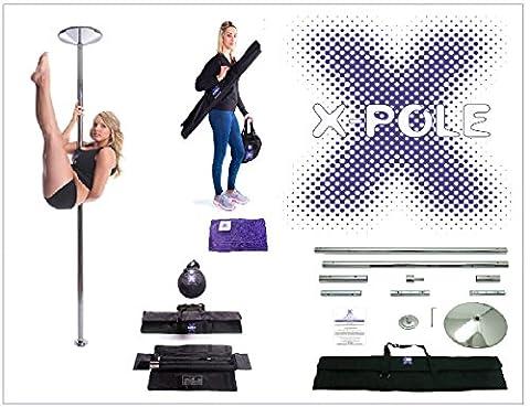 X-Pole Xpert Spinning & Statische Pole und gratis X-Pole Mikrofasertuch 40 mm