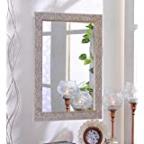 Zahab Fibre Frame Silver Design Bathroom Mirror/ Decorative Mirror (Size: 15 X 1 X 21 Inches) Decorative Bathroom Wall Mirrors || Bedroom Mirrors || Bathroom Wall Mirrors || Decorative Framed Mirrors ||