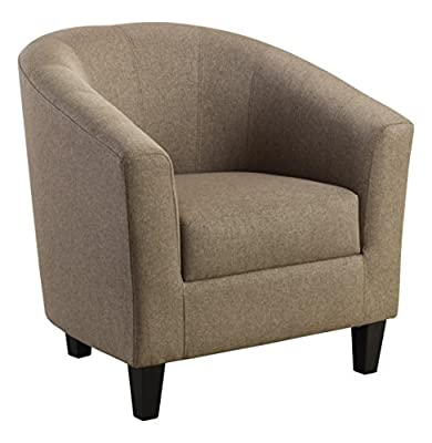 Julian Bowen Hugo Tub Chair Snuggler, Fabric, Mushroom Linen - cheap UK light shop.