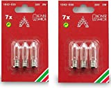 1042-030 Konstsmide Spare Replacement Welcome Candle Arch Light Bulbs, 34 V, 3 W 6 BULBS