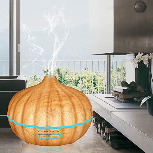 VGFTP Duft-Luftbefeuchter, Ultraschall-Aromatherapie-Diffusor, Wood Gra im Ultraschall-Luftbefeuchter für Office Home Schlafzimmer Wohnzimmer 550ml -