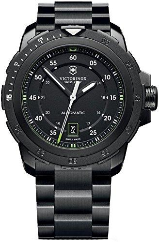 Victorinox 241684 - Reloj para hombres, correa de acero inoxidable color negro