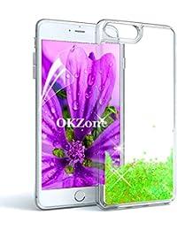 """OKZone Funda iPhone 8 Plus,Funda iPhone 7 Plus [con Protector Pantalla], Brillo Brillante Liquida Sparkly Creativo Arenas Movedizas Protección Protectora Case para Apple iPhone 8/7 Plus 5.5""""(Verde)"""