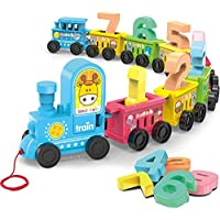 Webby Digital Number Luggage Toy Train Set