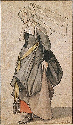 Hans der Jüngere–Junge Engländerin Kostüm Studie Vintage Fine Art Print, Up to 594mm by 841mm or 23.4