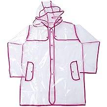 Imperméable transparent PVC femme homme manteau de pluie adultes léger Poncho étanche Encapuchonné pour l'extérieur