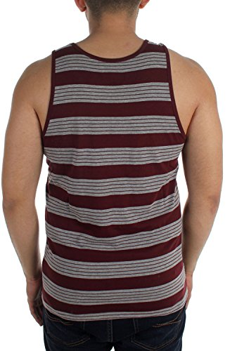 Herren Tank Top Brixton Abram Tank Top burgundy/heather grey