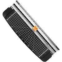 Firbon Cortador de Papel Guillotina de Titanio A4 de 12 Pulgadas con Salvaguardia de Seguridad Automática para Papel Artesanal de Cupón o Etiqueta Fotográfica (negro)