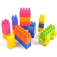 Funkey Plastic Building Blocks With Wheel, Multicolor, 4 Years - 5 Years, 80 Piece