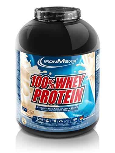 IronMaxx 100% Whey Protein Pulver - Proteinreiches Eiweißpulver für Proteinshake - Wasserlösliches Proteinpulver mit neutralem Geschmack - 1 x 2,35 kg Dose Muffin-top-dosen
