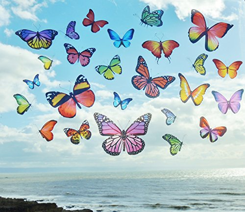 realistic-colourful-butterflies-butterfly-static-cling-double-sided-reusable-window-stickers-stained