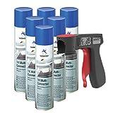 Primaire polyvalent 1K Multi-Connector Apprêt antirouille gris clair Spray 6x 400 ml + 1x poignée originale pour bombes aérosols