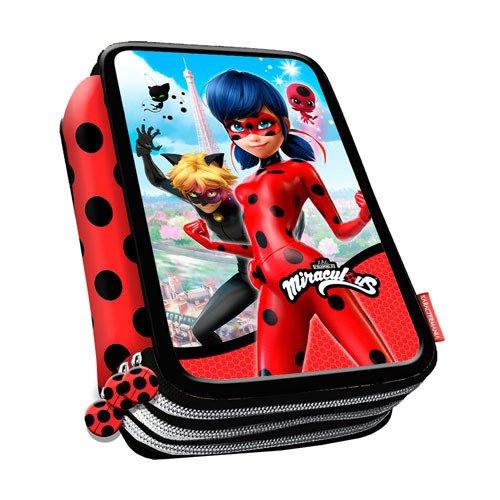 45237df2f9 Ladybug Miraculous e Cat Noir Zaino Trolley Scuola Astuccio Triplo Set  Colazione Ragazza Bambina MARINETTE. 🔍. vedi ...