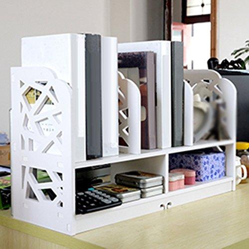LYYZWJ ZHDC® Estante, Escritorio Creativo estantería Simple Escritorio sobre la Mesa Estantería de Muebles Simple Estante de almacenaje Fuerte Capacidad de Carga