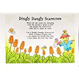 Dingly Dangly Scarecrow Cotton Tea Towel by Half a Donkey
