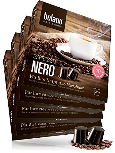 100 Nespresso kompatible Kaffee Kapseln I 100{67e6cb9435179b6c6795facca105d85b5c52b96674e9427327d06ed094d13ad1} Arabica I Nero Stärke 10 I Lungo I Caffe Crema I Kaffee Kapsel kompatibel mit Nespresso-Maschinen Capsule *