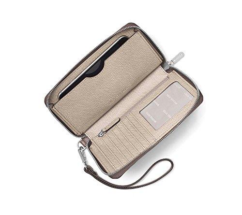 Michael Kors Mercer 32F6SM9E3L Damen Tasche Handtasche Henkeltasche Abendtasche Handgelenktasche Clutch Smartphonetasche cinder