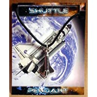 SHUTTLE PEWTER PENDANT NASA SPACE ROCKET