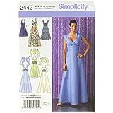 Simplicity 2442 R5 - Patrones de costura para vestidos de fiesta (tallas 42 a 50)